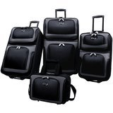 U.S. Traveler New Yorker Lightweight Expandable Rolling Suitcase Set