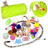 Youngever Cat Toy Assortment with 2-Way Tunnel
