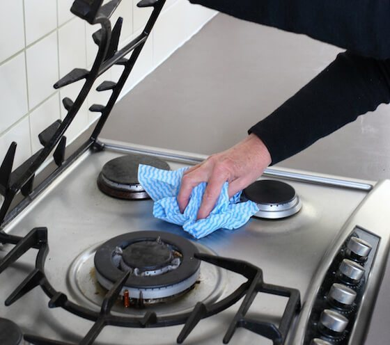 Gas Ranges Do Not Come With Any Auto Clean Features They Have To Be Wiped Down On A Regular Basis Keep Them Sparkling